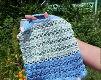 Green and Blue String Bag
