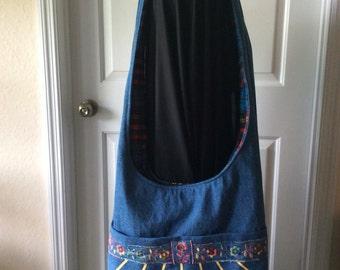 Blue Denim Hobo bag
