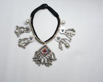 Tribal vintage kuchi necklace