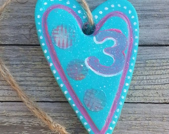 Hanging Heart Decoration Birthday Gift Home Decor Mixed Media