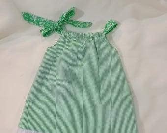 Meloney's Design handmade girls reversible pillowcase dress 18 months