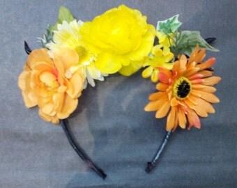 Sunny flower crown