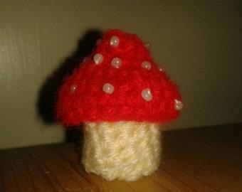 Small Crochet Toadstool
