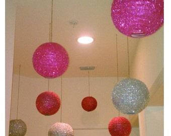Glitter paper lanterns