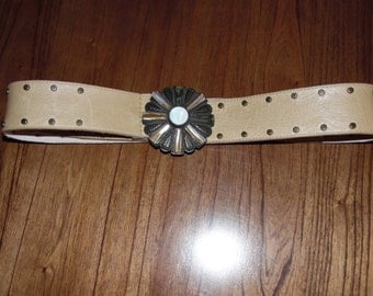 Vintage Italian leather belt 36 inch max