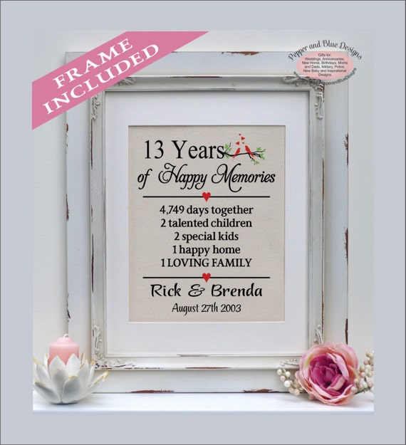 Anniversary Gifts By Years Married: 13th Wedding Anniversary Gifts 13 Years Married 13 Years