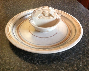 Chip and Dip Stoneware, Chip and Dip Dish, Chip and Dip Set, Pottery