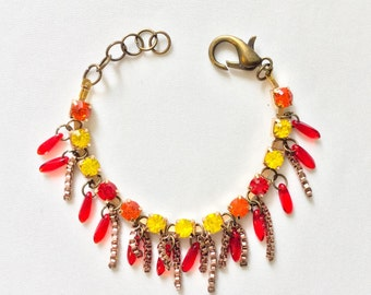 Bracelet with red charms