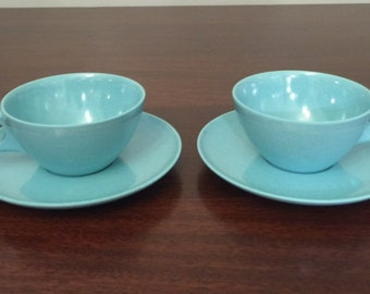 Vintage Branchell Melmac Melamine Cups and Saucers (2 of each)