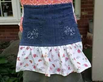 Jean half-apron