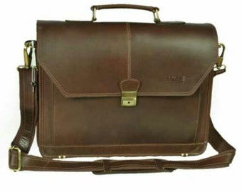 Kazami Genuine 100%  Leather Laptop /massenger Bags