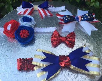 Patriotic 4th of July Hair Accessories