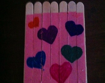 Heart stick puzzle