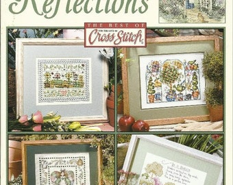 GARDEN REFLECTIONS Counted Cross Stitch Pattern Book from Leisure Arts Brand New 9 Designs Nature Floral