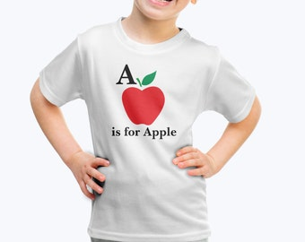 A is for Apple T Shirt