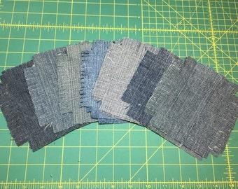 Pre cut rag quilt squares