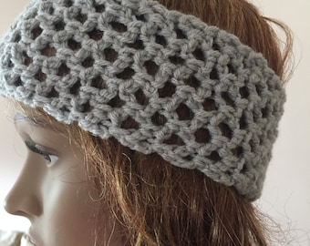 Crochet headband, easy fit headband