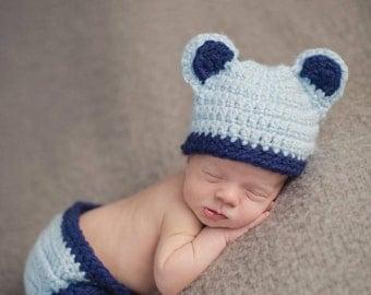 Newborn Bear Hat and Diaper Cover