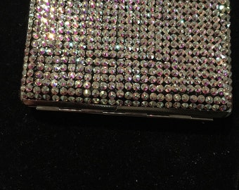 Swarovski stone card holder. Get organized and Bling. Available Now