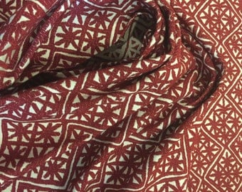 DESIGNTEX Aster Red Giant Upholstery Fabric - By The Yard