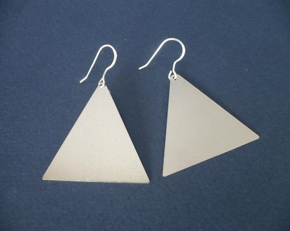 triangle dangle earrings layered earring by geometric german. Black Bedroom Furniture Sets. Home Design Ideas
