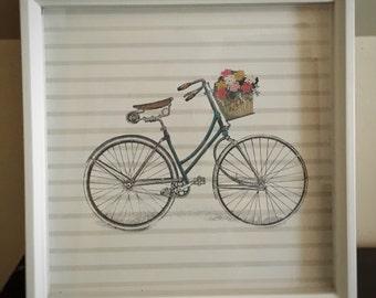 Vintage bicycle print | 12x12 in | includes frame