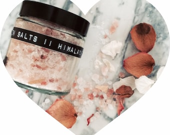 Himalayan Bath Salts with lemon grass and grapefruit essential oils