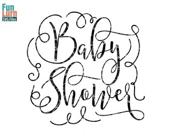 Baby Shower Svg, Title, Graphic, Baby Shower, Word Art For Invitation,