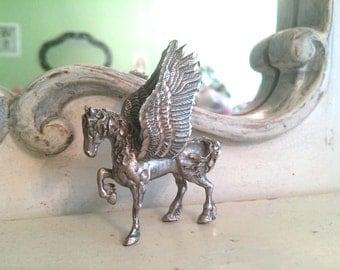 Pewter Pegasus Statuette