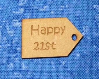 "Happy 21st "" Laser Tag"""