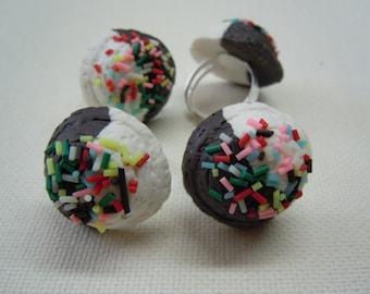 Ice cream Ring with Sprinkles / cute kawaii harajuku decora