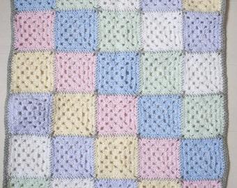 Granny square baby blanket 60x80