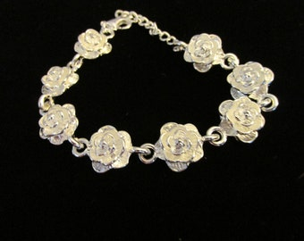 Silver Rosette Bracelet