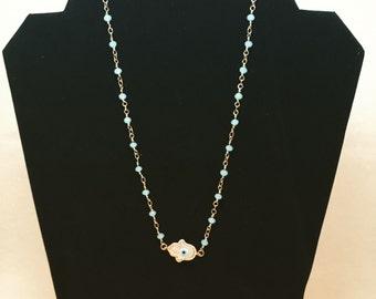 Beaded Hamsa Necklace