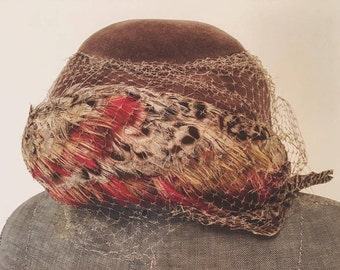 Vintage birds cage style hat
