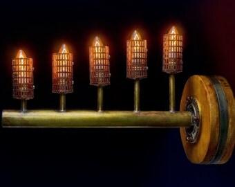 steampunk style chandelier lamp