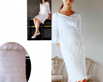 Ladies long skirt crochet / custom