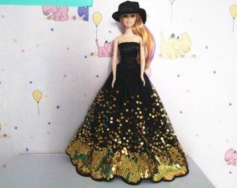 Modest Barbie clothes, EASTER Barbie Gown, Pocketbook, Satin Hat, Shoes, PASSOVER Barbie gown, Barbie dress, Barbie ballgown, Barbie fashion