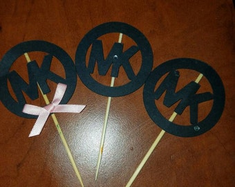 MK Inspired Cupcake Toppers