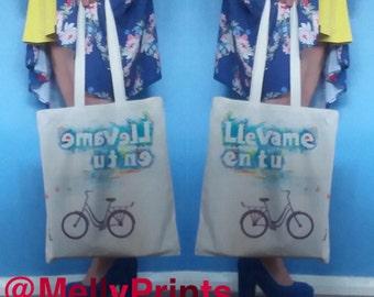 Spanish Tote Bag - La Bicicleta