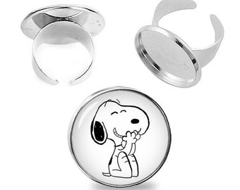 Snoopy  Ring Snoopy Adjustable ring Snoopy Jewelry Fanboy Fangirl