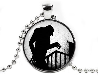 Nosferatu Pendant Necklace with a ball chain Vampire Necklace Horror Fangirl Fanboy