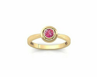 ruby ring, dainty ruby ring, delicate ring, July birthstone ring, ruby 14k gold ring, red gemstone ring, ruby with diamond ring, round ruby