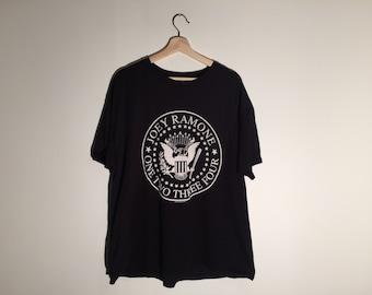 JOEY RAMONE PROMO T-Shirt, One, Two, Three, Four. Ramones Giant Presidential  Seal