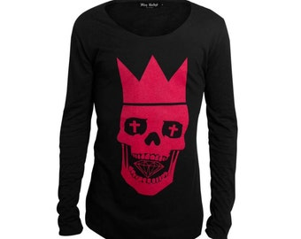 skull diamond red