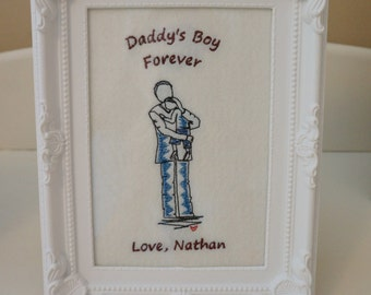 Fathers Day Gift from son, Framed picture, Daddy and Son, Father and Son