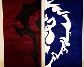 Horde vs Alliance - World of Warcraft Handpainted Canvas