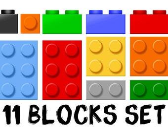 Lego Blocks Multi Colour 3D Wall Floor Vinyl Poster - Bedroom Gameroom Mural