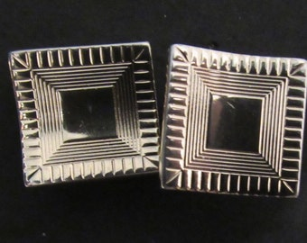 1940s-1950s Vintage Gold Tone Cuff Links - Very Mad Men/ Gatsby like