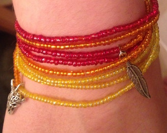 Desert Sunset wrap bracelet